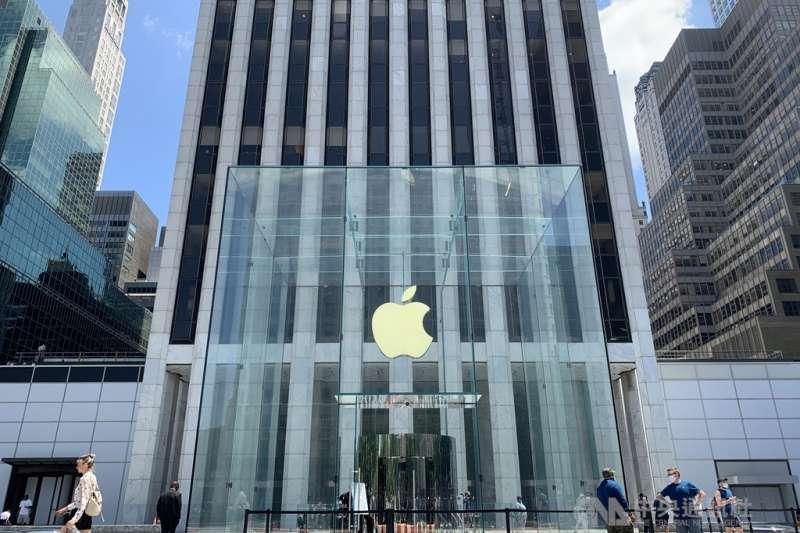 曼哈頓第五大道蘋果直營店。(中央社檔案照片)