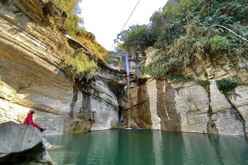 嘉義大埔的青雲瀑布不僅風景優美,同時可以讓人放鬆身心。(圖/嘉義縣文化觀光局提供)