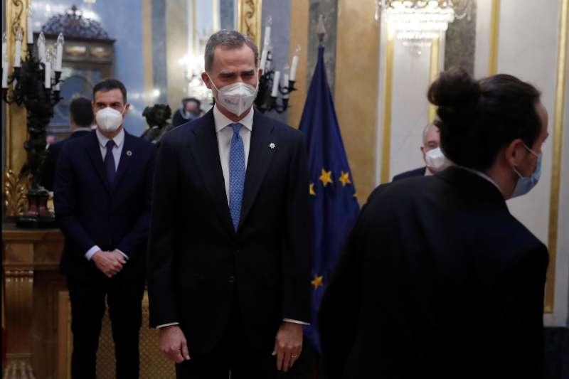 西班牙國王費利佩六世出席1981年未送政變40周年紀念活動(AP)