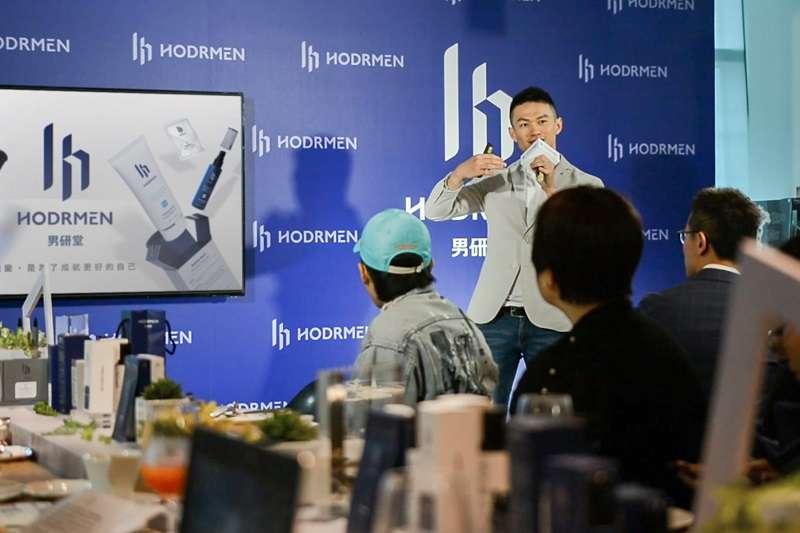 「HODRMEN 男研堂」創辦人朱書玄分享,男研堂今年業績成長超過三成(圖片來源:男研堂)