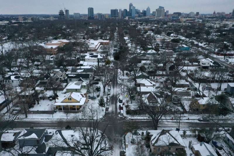不久之前,德州因為暴風雪遭遇大範圍停電。(美聯社)