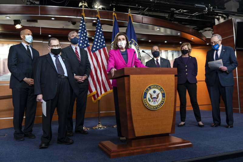 美國聯邦眾議院議長裴洛西、美國聯邦眾議院25日再度表決通過延宕多年的《平等法案》。(AP)