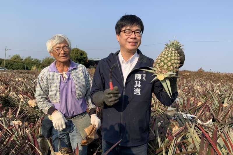 作者認為高雄市長陳其邁面對連任,表面上看似乎也是不成問題,但是事實並非如外在看到的容易。(圖/高雄農業局提供)