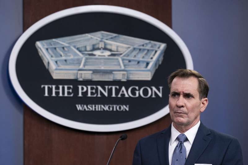 2021年2月25日,美國五角大廈(國防部)發言人柯比(John Kirby)宣布美軍對敘利亞民兵發動攻擊(資料照,AP)