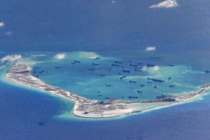 美濟礁。(BBC News中文)