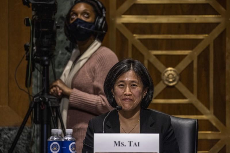 2021年2月25日,美國貿易談判代表被提名人戴琪出席聯邦參議院聽證會(AP)