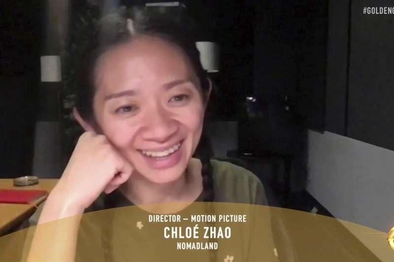 華人導演趙婷成為第1位獲電影金球獎最佳導演獎的亞裔女性。(AP)