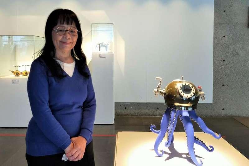 陶藝家張麗娟要用創作帶給觀眾充滿活力的正能量。(圖/新北市鶯歌陶瓷博物館提供)