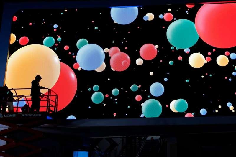 2020年1月,Google在國際消費電子展上的展台。(AP)