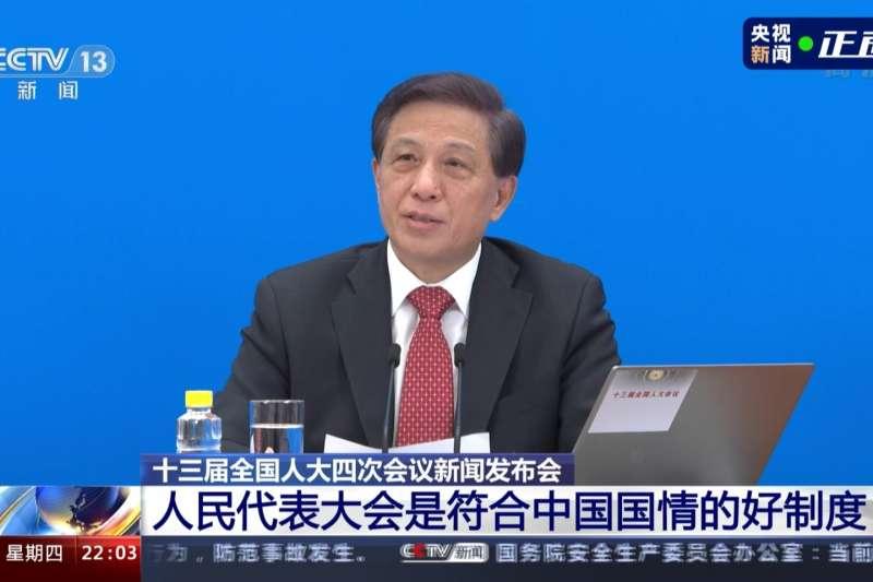 中國全國人大發言人張業遂(央視截圖)