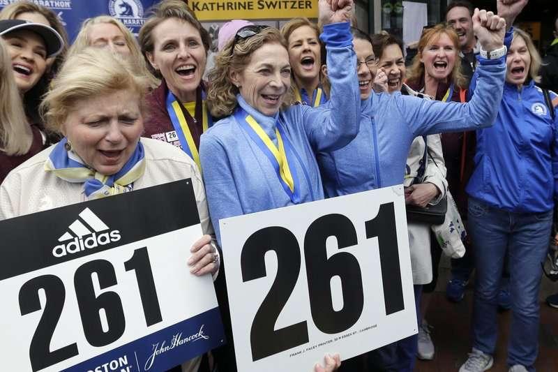 威斯策(Kathrine Switzer)是推動馬拉松女子組比賽的傳奇人物。(AP)