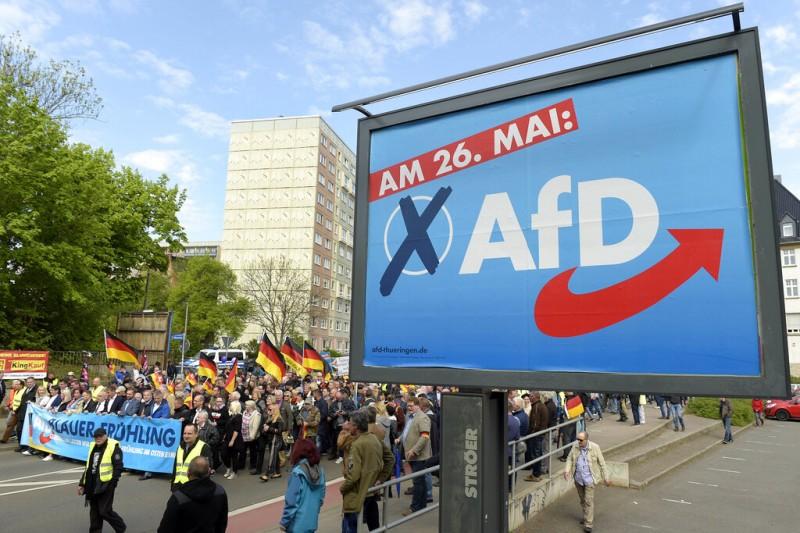 「德國另類選擇黨」靠著極右翼言論崛起。(美聯社)