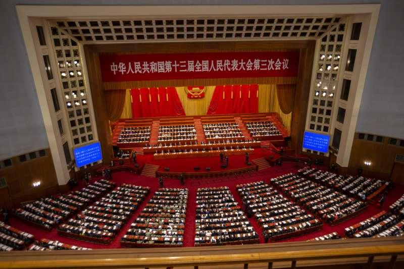 2021年3月,中國人大、政協「兩會」登場(AP)