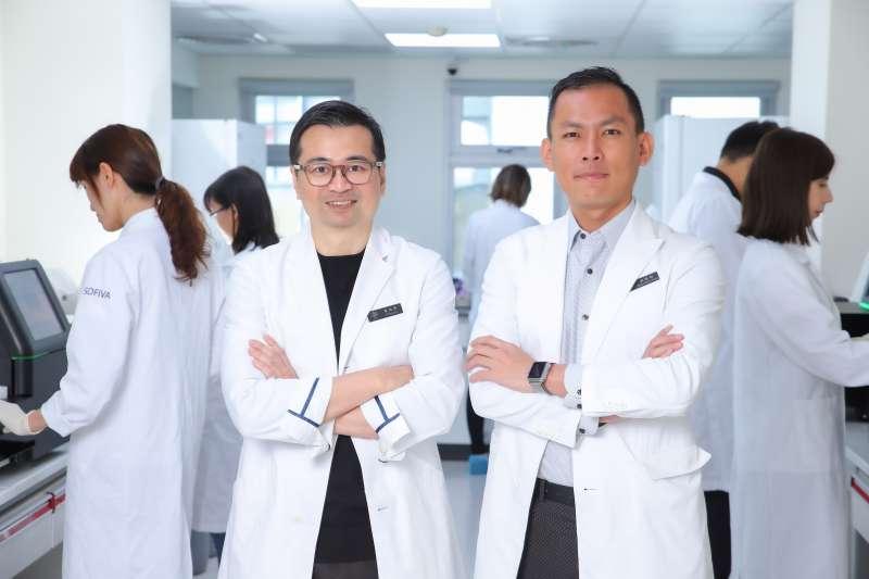 慧智基因董事長暨執行長蘇怡寧醫師(左)與慧智基因總經理洪加政博士(右)。(圖/慧智基因)