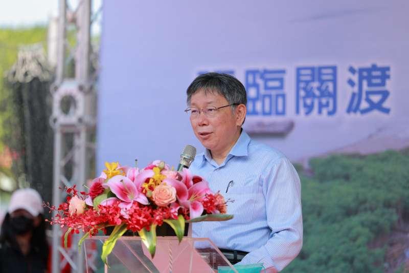 台北市長柯文哲(見圖)表示,抽菸跟吸毒當然比打疫苗的危險更高。(取自北市府網站)