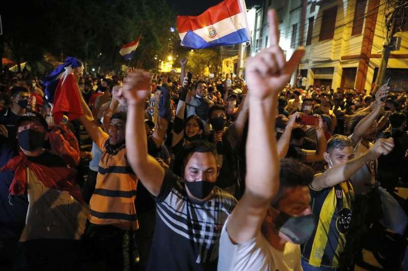 巴拉圭疫情加劇,民眾上街示威(AP)