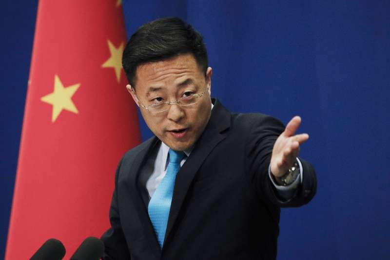 2021年3月,中國外交部發言人,「戰狼」趙立堅(AP)