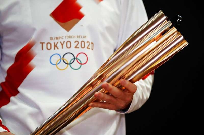2020東京奧運的聖火。(美聯社)