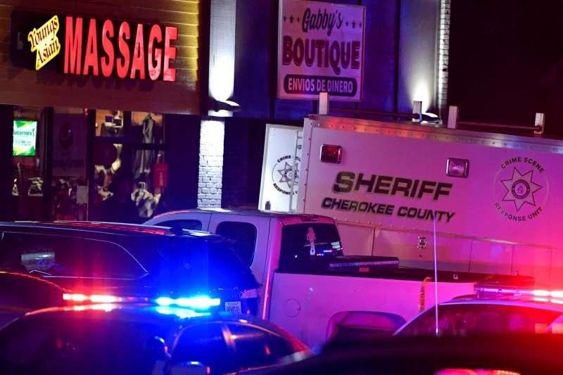 美國喬治亞州大城亞特蘭大16晚間發生3起槍擊案,遭到襲擊的地點都是Spa按摩館。(AP)