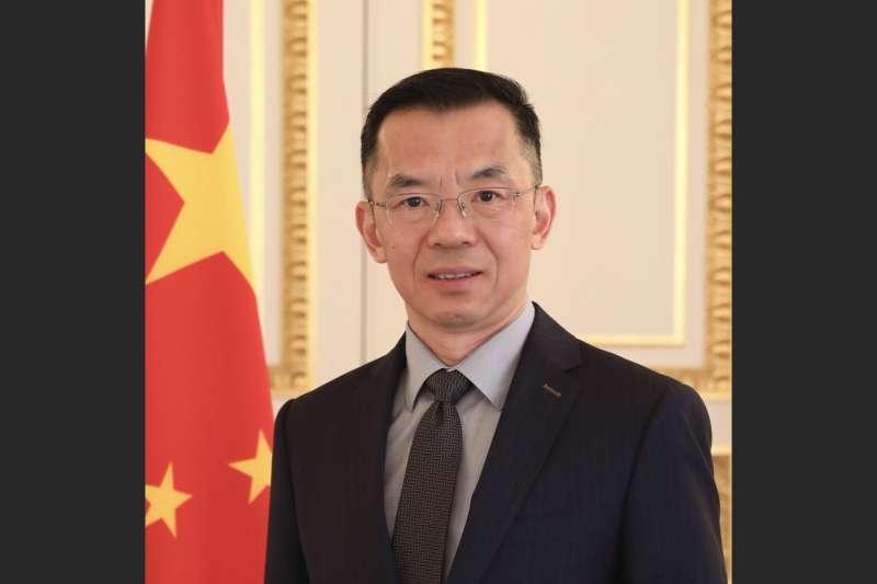 中國駐法大使盧沙野一直被認為是「戰狼外交」的代表人物。(翻攝中國駐法使館)