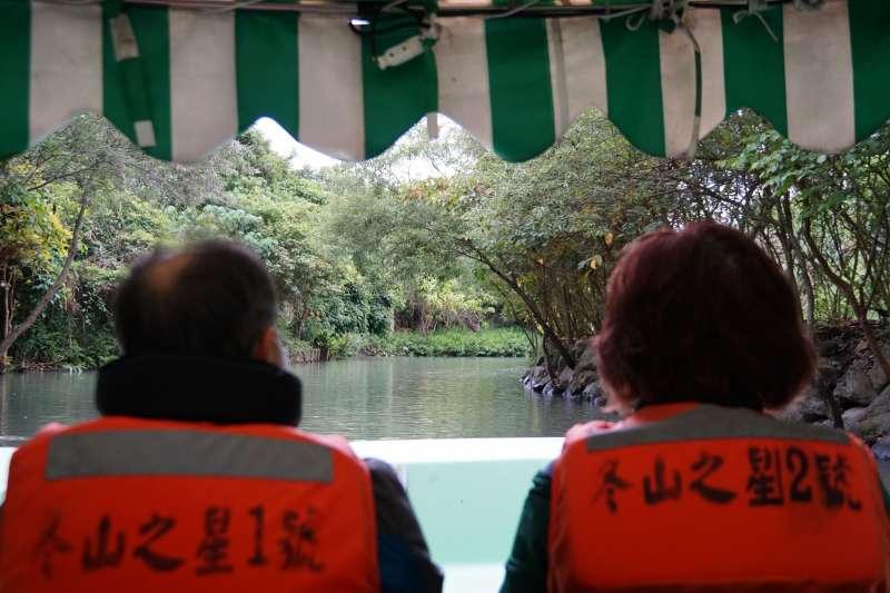 20210325-雄獅旅遊鳴日號23日開往宜蘭冬山,並安排在地遊船體驗。(盧逸峰攝)
