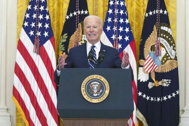 筆者表示,美國總統拜登在3月25日的首次總統記者會上已明確提出了一種基於「治理模式」之間地緣政治競爭的外交政策。(資料照,美聯社)