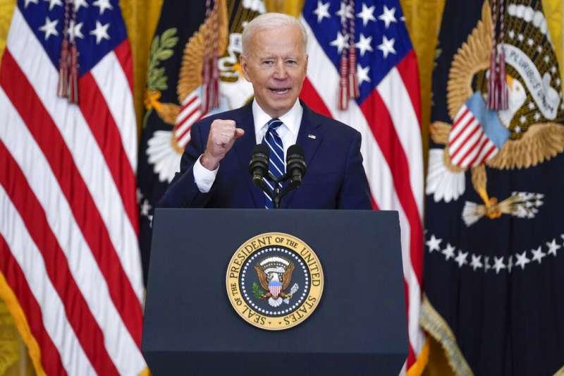 拜登在記者會公開對中國喊話稱「在我總統任內,中國別想當老大」。(資料照,美聯社)