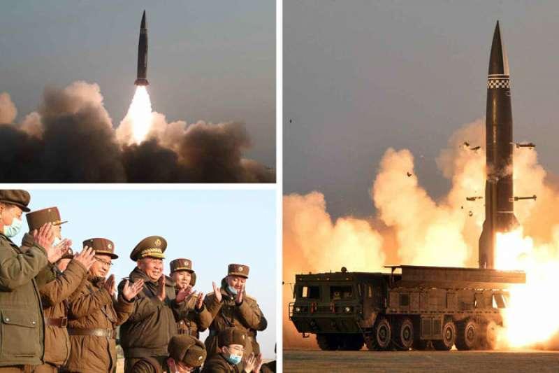 朝鮮國防科學院3月25日進行了新型戰術制導導彈試射。(取自北韓勞動新聞網rodong.rep.kp/cn/)