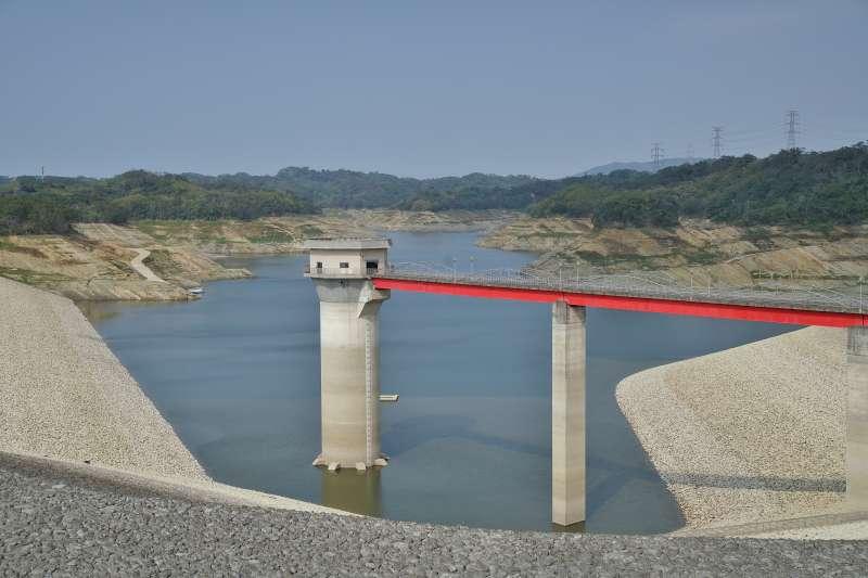 20210327-國內水情告急,圖為新竹寶山第二水庫(寶二水庫)蓄水率僅剩1成。(盧逸峰攝)