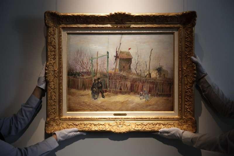梵谷的畫作《蒙馬特街景》(Scène de rue à Montmartre)(AP)