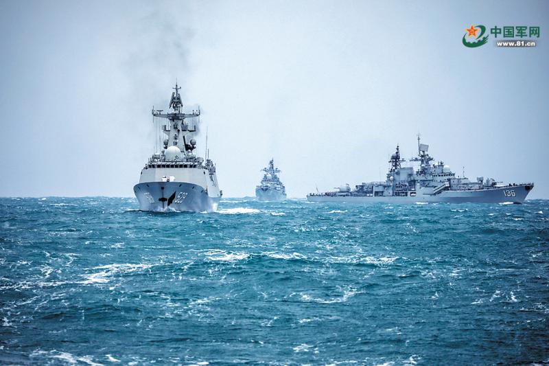 2021年1月解放軍東部戰區驅逐艦演習(翻攝自中國軍網))