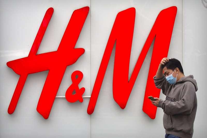 瑞典服裝品牌H&M遭到中國民眾群起抵制。(美聯社)