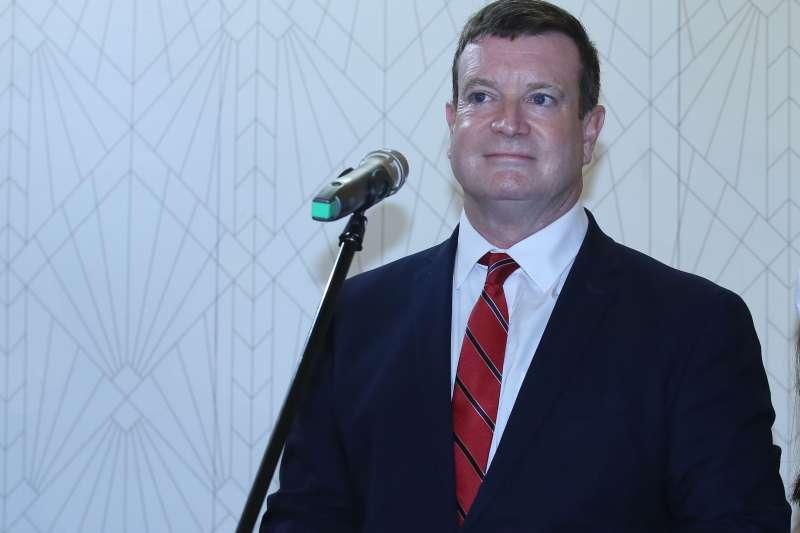 20210330-美國駐帛琉大使倪約翰(John Hennessey-Niland)。(柯承惠攝)
