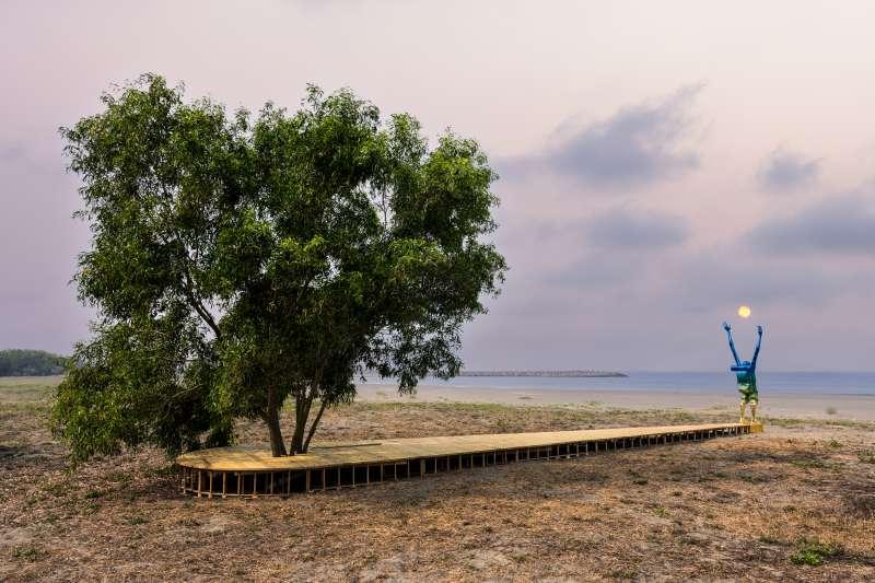 將變成樹與天空_阿部乳坊_台南2021漁光島藝術節(圖/都市藝術工作室 提供)
