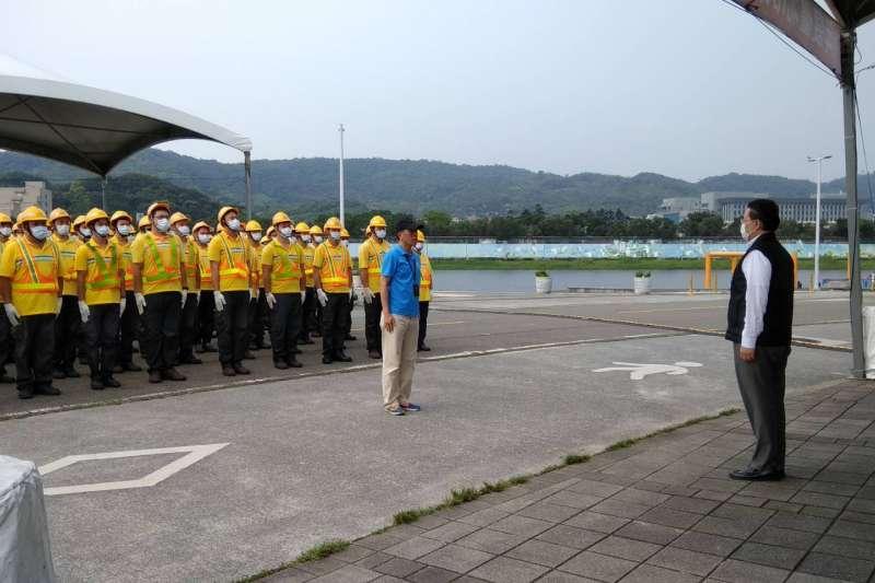 實兵演練集合。(圖/台北市政府環保局提供)