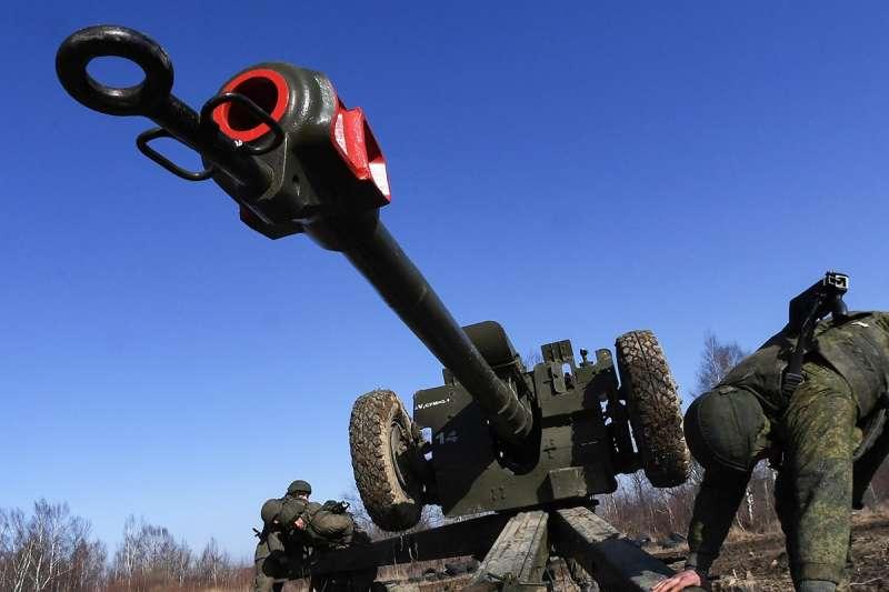 俄羅斯軍方的自走砲(俄羅斯國防部臉書)