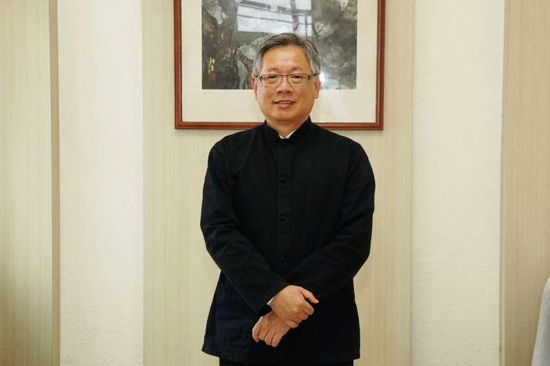 20210409-淡江大學運管系副教授羅孝賢專訪。(盧逸峰攝)