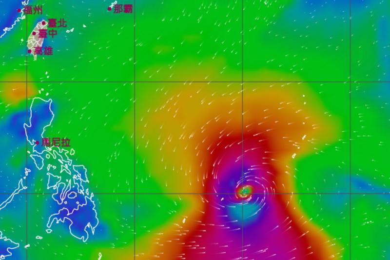 中央氣象局最新預報顯示,菲律賓東方海面的低氣壓若下周成颱,將會是今年第2號颱風「舒力基」。(取自中央氣象局)