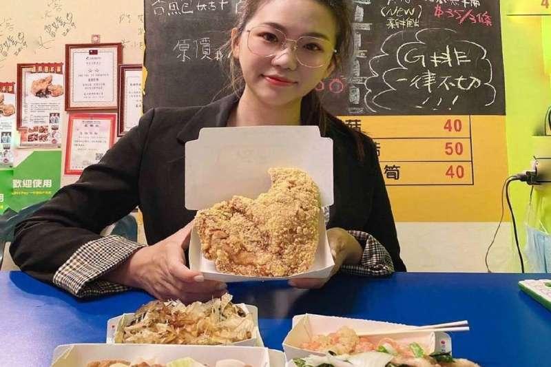 首波宣傳邀請網紅「鹹酥雞美少女」劉玧希 Evan帶路品嘗此次嘉年華的特色鹹酥雞店家。(圖/高雄市觀光局提供)