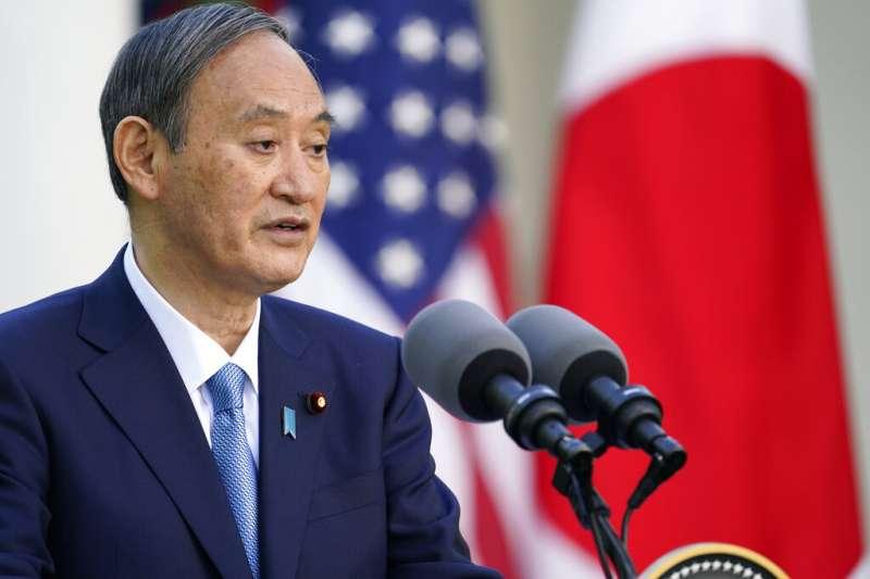 2021年4月16日,日本首相菅義偉到訪白宮,成為美國總統拜登上任後第一位在白宮接見的外國領導人。(美聯社)