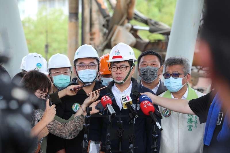 高雄市長陳其邁(見圖)表示,有做好處理缺水危機的最壞打算,協調市府主計處和水利局,不排除未來需鑿30口水井。(高雄市府提供)