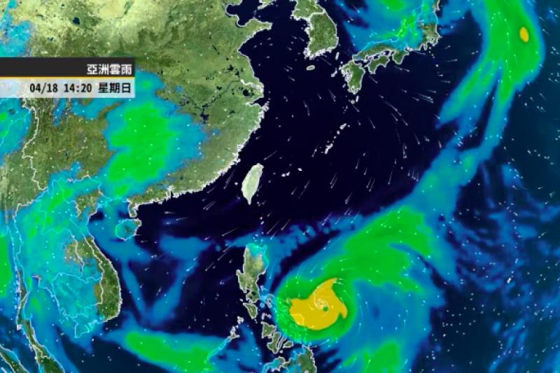 氣象專家彭啟明表示,強颱舒力基,是最強的時候,颱風眼非常清晰,預計周三四離台灣最近後往東北東方向移動。(取自氣象達人彭啟明)
