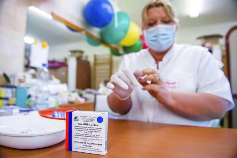 俄羅斯的衛星五號(Sputnik V)新冠疫苗。(美聯社)