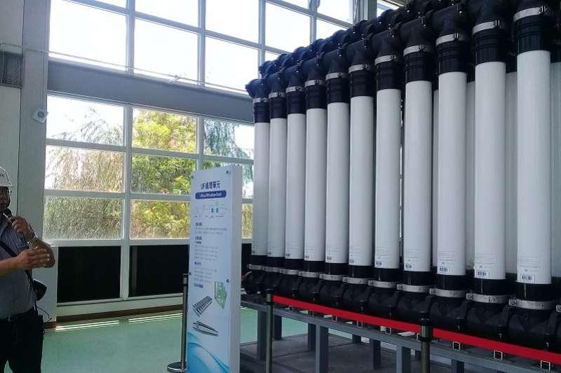 高雄鳳山溪再生水廠,每天供給中鋼4.5萬噸水,成為穩定高雄供水的一塊拼圖。(朱淑娟∕攝影)