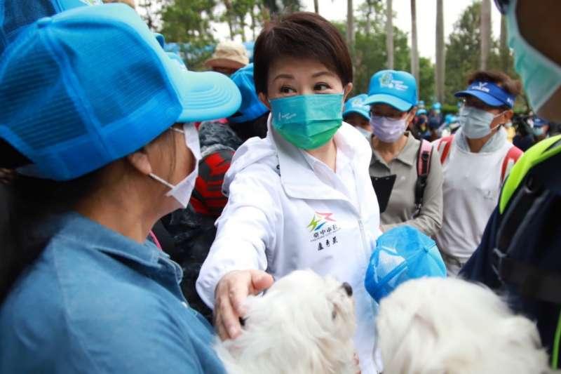 台中市長盧秀燕在地震發生第一時間就發文關心台中市民。(台中市政府提供)