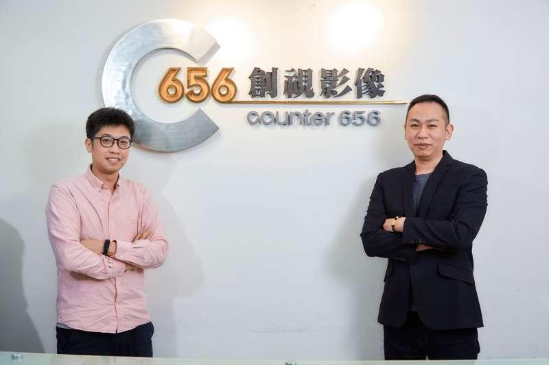 Counter656創視影像的創辦人黃興良(John H.S)與副理兼MIS石智方(Robin Shih)。