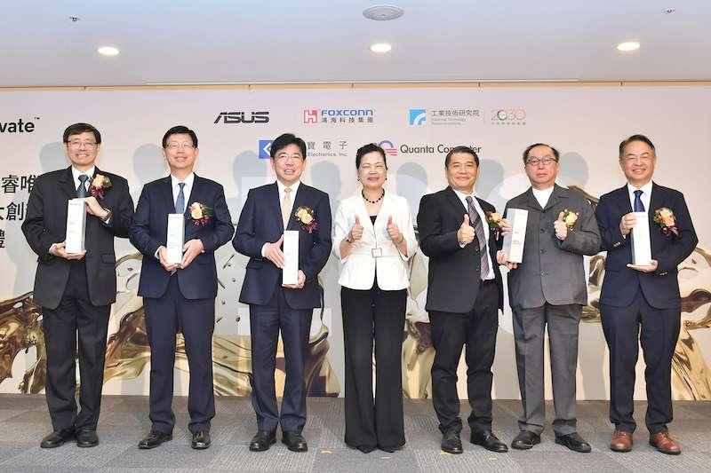 科睿唯安20日頒發2021全球百大創新機構獎,工研院、鴻海、廣達,及首度進榜的華碩及金寶電子等5家臺灣機構獲獎。(圖/工研院提供)
