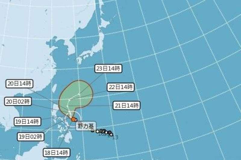 強颱舒力基雖無法解決台灣旱情,但是碰上雲系鋒面各地仍有降雨機會。(圖/翻攝自中央氣象局臉書)