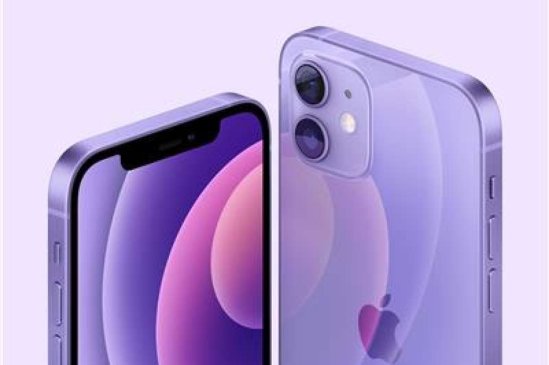 iPhone 12推出紫色外殼新款。(美聯社)