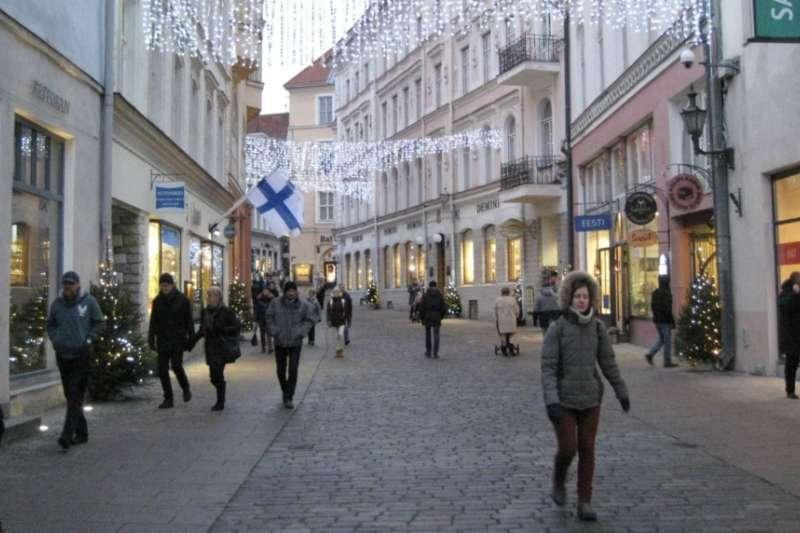 愛沙尼亞首都塔林街頭,媒體抱怨當地民眾對中國威脅認識不足。(美國之音)
